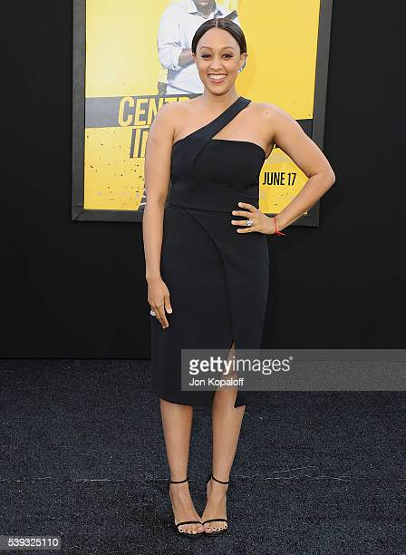 Actress Tia MowryHardrict arrives at the Los Angeles Premiere 'Central Intelligence' at Westwood Village Theatre on June 10 2016 in Westwood...