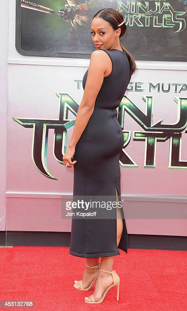 "Actress Tia Mowry-Hardrict arrives at the Los Angeles Premiere ""Teenage Mutant Ninja Turtles"" at Regency Village Theatre on August 3, 2014 in..."