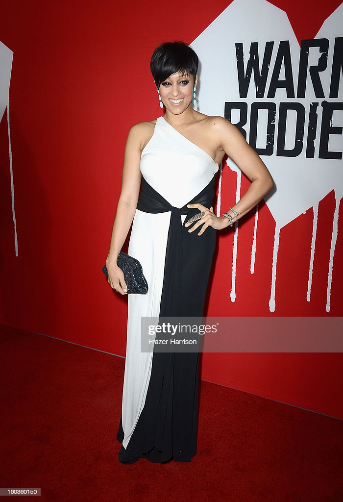 Actress Tia Mowry-Hardrict arrives at the premiere of Summit Entertainment's 'Warm Bodies' at ArcLight Cinemas Cinerama Dome on January 29, 2013 in Hollywood, California.
