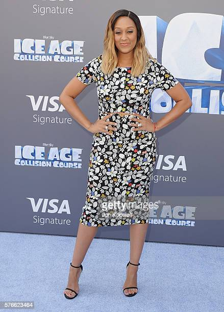 Actress Tia MowryHardrict arrives at the screening Of 'Ice Age Collision Course' at Zanuck Theater at 20th Century Fox Lot on July 16 2016 in Los...