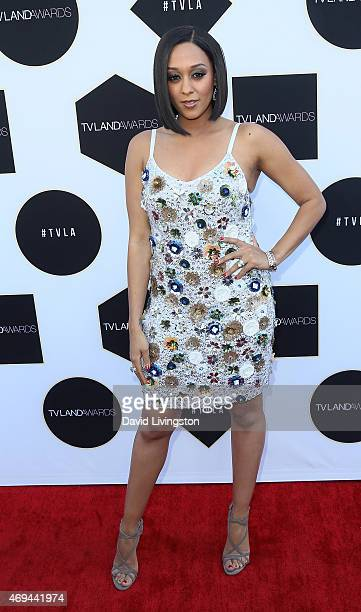Actress Tia MowryHardrict attends the 2015 TV Land Awards at the Saban Theatre on April 11 2015 in Beverly Hills California