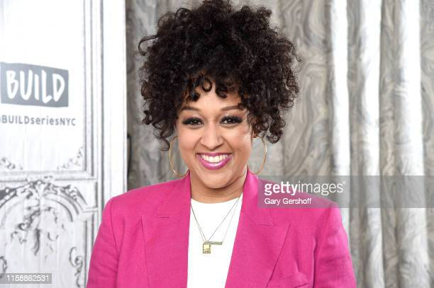 Actress Tia Mowry-Hardrict visits the Build Brunch to discuss the Netflix Series 'Family Reunion' and her YouTube Channel 'Tia Mowry's Quickfix' at...