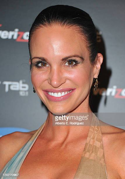 Actress Tia Texada arrives to the Samsung and Verizon Launch of The Samsung Galaxy Tab 101 on August 2 2011 in West Hollywood California