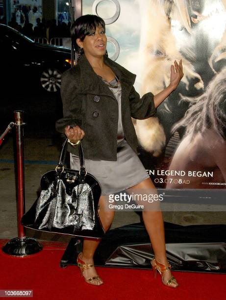 Actress Tichina Arnold arrives at the 10000 BC premiere at Grauman's Chinese Theatre on March 5 2008 in Hollywood California