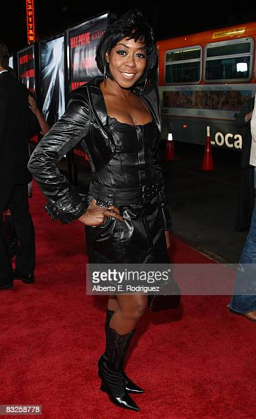Actress Tichina Arnold arrives at the premiere of 20th Century Fox's 'Max Payne' held at Mann's Chinese Theater on October 13th 2008 in Los Angeles...