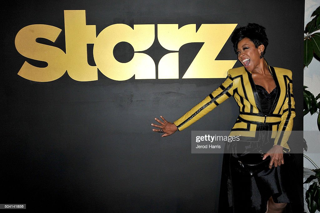 Actress Tichina Arnold arrives at the STARZ Pre-Golden Globe Celebration at Chateau Marmont on January 8, 2016 in Los Angeles, California.