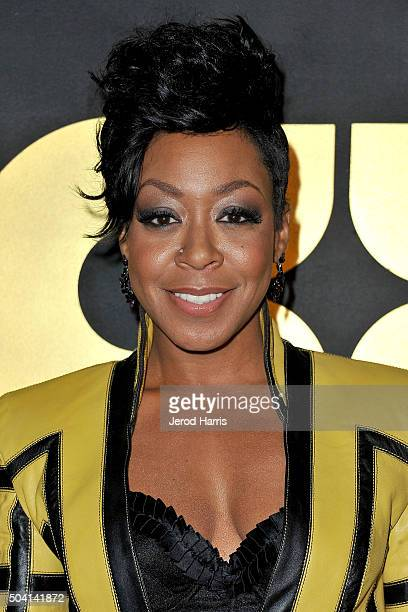 Actress Tichina Arnold arrives at the STARZ PreGolden Globe Celebration at Chateau Marmont on January 8 2016 in Los Angeles California