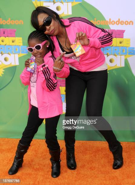 Actress Tichina Arnold arrives on the orange carpet at the Nickelodeon Kids' Choice Awards 2011 at USC's Galen Center April 2 2011 in Los Angeles...