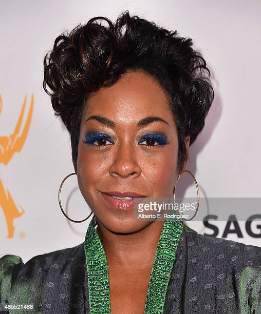 Actress Tichina Arnold attends a cocktail party celebrating dynamic and diverse nominees for the 67th Emmy Awards hosted by the Academy of Television...