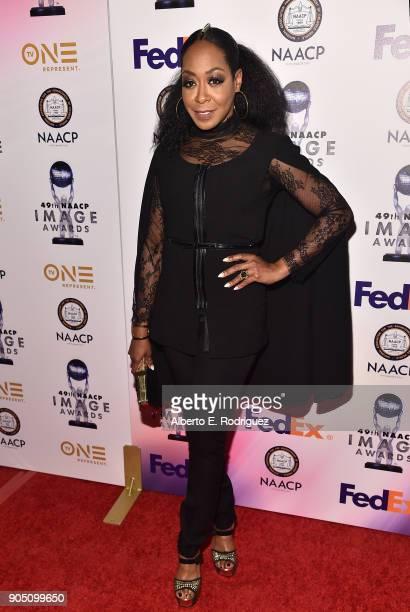 Actress Tichina Arnold attends the 49th NAACP Image Awards NonTelevised Award Show at The Pasadena Civic Auditorium on January 14 2018 in Pasadena...