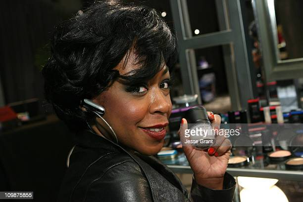 Actress Tichina Arnold attends the CVS Pharmacy Reinventing Beauty Bar at the Access Hollywood Stuff You Must Lounge produced by On 3 Productions...