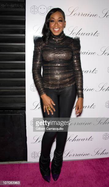 Actress Tichina Arnold attends the launch of Lorraine Schwartz's 2BHAPPY jewelry collection at Lavo NYC on November 22 2010 in New York City