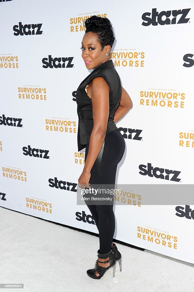 Actress Tichina Arnold attends the Los Angeles premiere of STARZ new series 'Survivor's Remorse' at Wallis Annenberg Center for the Performing Arts on September 23, 2014 in Beverly Hills, California.