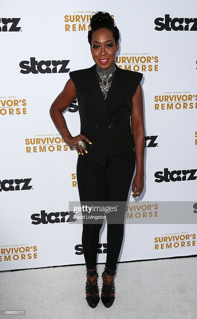 Actress Tichina Arnold attends the premiere of Starz 'Survivor's Remorse' at the Wallis Annenberg Center for the Performing Arts on September 23, 2014 in Beverly Hills, California.