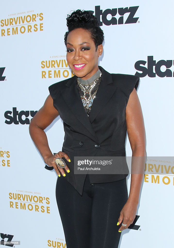 Actress Tichina Arnold attends the STARZ new series 'Survivor's Remorse' premiere at the Wallis Annenberg Center for the Performing Arts on September 23, 2014 in Beverly Hills, California.