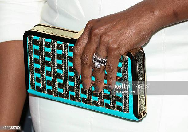 Actress Tichina Arnold Handbag Detail / Jewelry Detail attends the Paley Center For Media's Tribute To AfricanAmerican Achievements In Television at...