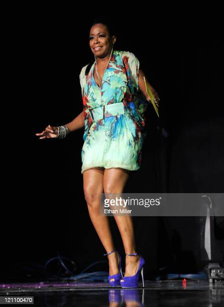 Actress Tichina Arnold speaks onstage during the ninth annual Ford Hoodie Awards at the Mandalay Bay Events Center August 13 2011 in Las Vegas Nevada