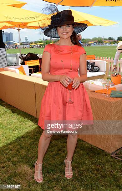 Actress Tiffani Amber Thiessen poses at the VIP Marquee during the fifth Annual Veuve Clicquot Polo Classic on June 2 2012 in Jersey City