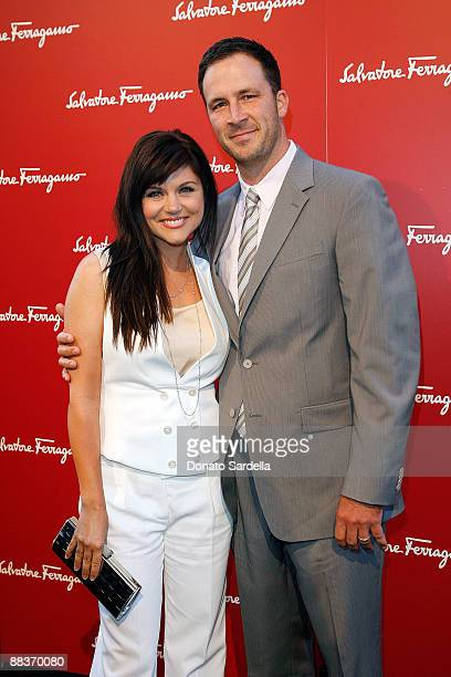 Actress Tiffani Thiessen and Brady Smith attend the Ferragamo event with Debi Mazar and Adrian Grenier to benefit the L'Aquila earthquake victims at...