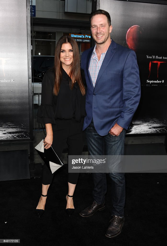 Actress Tiffani Thiessen and husband Brady Smith attend the premiere of 'It' at TCL Chinese Theatre on September 5, 2017 in Hollywood, California.
