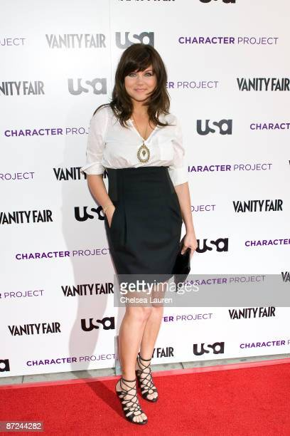 Actress Tiffani Thiessen arrives at the American Character A Photographic Journey Exhibition Opening Celebration at Ace Gallery on May 14 2009 in...