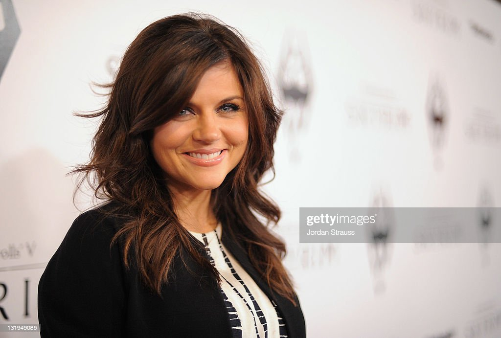 Actress Tiffani Thiessen arrives at the official launch party for the most anticipated video game of the year, The Elder Scrolls
