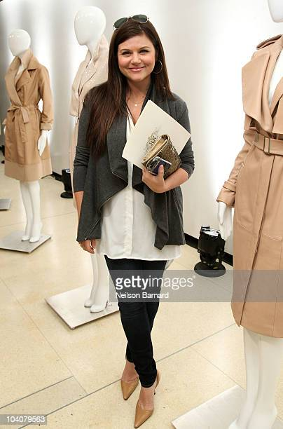 Actress Tiffani Thiessen at the Rachel Roy Spring 2011 presentation during MercedesBenz Fashion Week at Library For Performing Arts Gallery on...