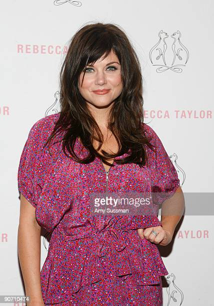 Actress Tiffani Thiessen attends Rebecca Taylor Spring 2010 fashion show at Bryant Park on September 13 2009 in New York New York