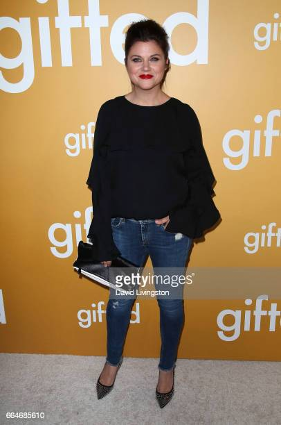 Actress Tiffani Thiessen attends the premiere of Fox Searchlight Pictures' 'Gifted' at Pacific Theaters at The Grove on April 4 2017 in Los Angeles...