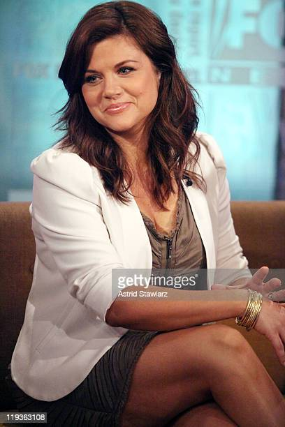 Actress Tiffani Thiessen visits FOX Friends at FOX Studios on July 19 2011 in New York City