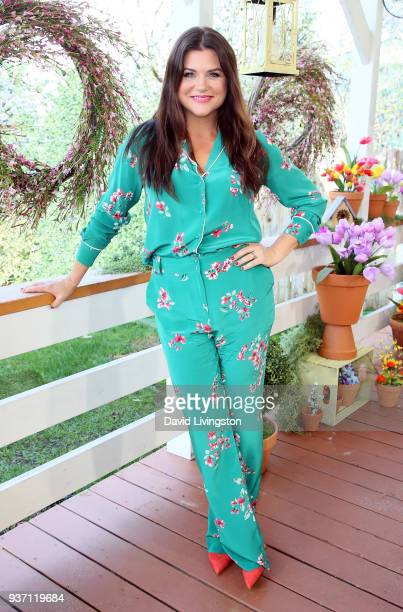 Actress Tiffani Thiessen visits Hallmark's Home Family at Universal Studios Hollywood on March 23 2018 in Universal City California