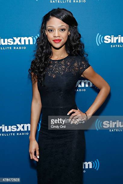 Actress Tiffany Boone visits the SiriusXM Studios on March 13, 2014 in New York City.
