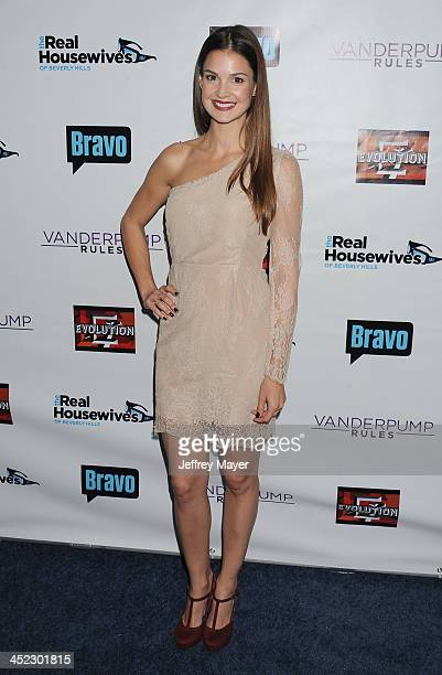 Actress Tiffany Brouwer arrives at 'The Real Housewives Of Beverly Hills' And 'Vanderpump Rules' premiere party at Boulevard3 on October 23, 2013 in...
