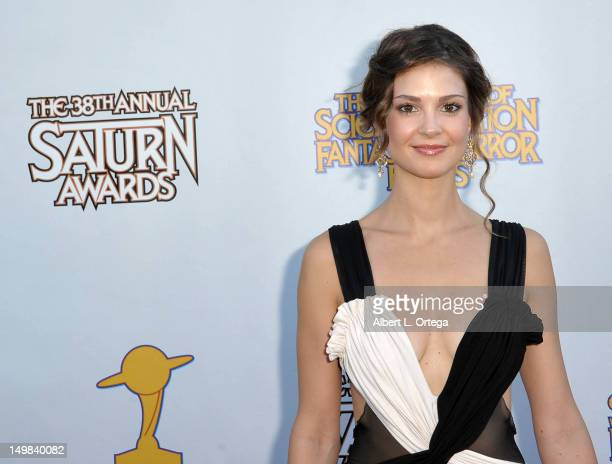 Actress Tiffany Brouwer at the 38th Annual Saturn Awards Presented By The Academy Of Science Fiction, Fantasy & Horror Films held at Castaways on...