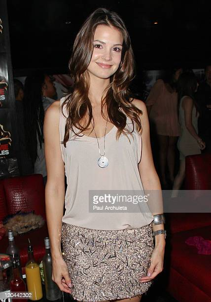 Actress Tiffany Brouwer of Cinemax's 'Femme Fatales' attends the 9th Annual National Underwear Day charity event at Playhouse Hollywood on August 5...