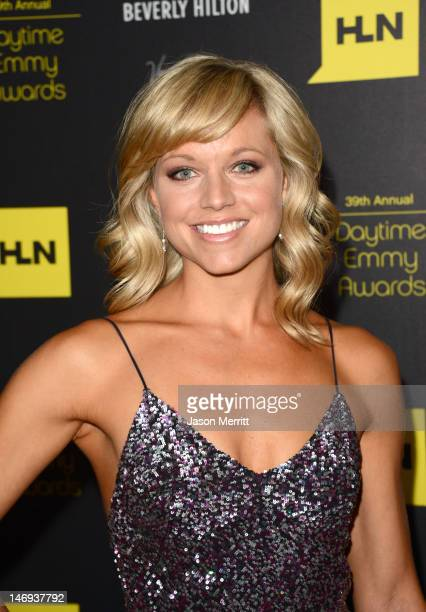 Actress Tiffany Coyne arrives at The 39th Annual Daytime Emmy Awards broadcasted on HLN held at The Beverly Hilton Hotel on June 23 2012 in Beverly...