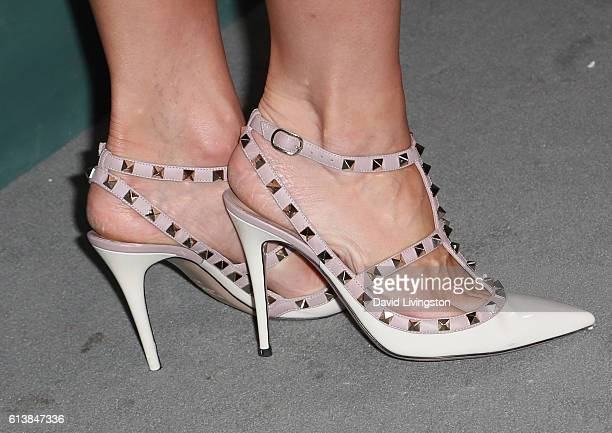 Actress Tiffany Coyne shoe detail attends the CBS Daytime for 30 Years at The Paley Center for Media on October 10 2016 in Beverly Hills California