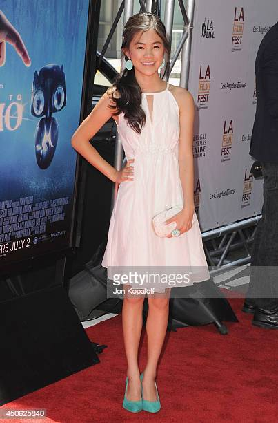 "Actress Tiffany Espensen arrives at the 2014 Los Angeles Film Festival - Screening Of """"Earth To Echo"" at Regal Cinemas L.A. Live on June 14, 2014 in..."