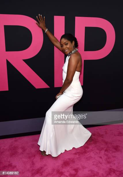 Actress Tiffany Haddish arrives at the premiere of Universal Pictures' Girls Trip at the Regal LA Live Stadium 14 on July 13 2017 in Los Angeles...