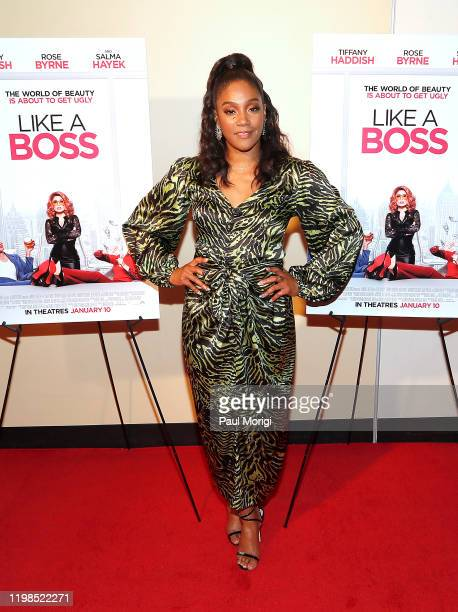 """Actress Tiffany Haddish attends a special hometown Washington, DC screening of """"Like A Boss"""" with Tiffany Haddish at the AMC Georgetown on January..."""