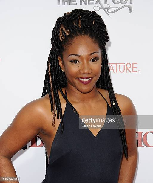 Actress Tiffany Haddish attends the premiere of 'Barbershop The Next Cut' at TCL Chinese Theatre on April 6 2016 in Hollywood California