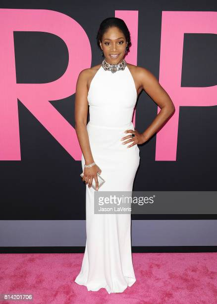 Actress Tiffany Haddish attends the premiere of Girls Trip at Regal LA Live Stadium 14 on July 13 2017 in Los Angeles California