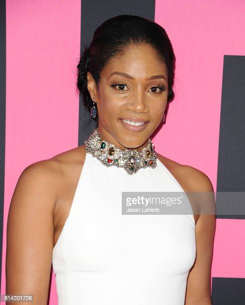 Actress Tiffany Haddish attends the premiere of 'Girls Trip' at Regal LA Live Stadium 14 on July 13 2017 in Los Angeles California