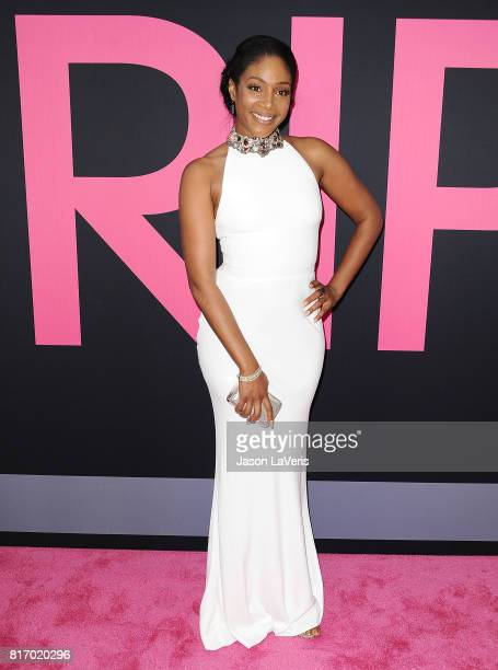 "Actress Tiffany Haddish attends the premiere of ""Girls Trip"" at Regal LA Live Stadium 14 on July 13, 2017 in Los Angeles, California."