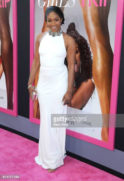 Actress Tiffany Haddish atttends the premiere of Universal Pictures' 'Girls Trip' at Regal LA Live Stadium 14 on July 13 2017 in Los Angeles...