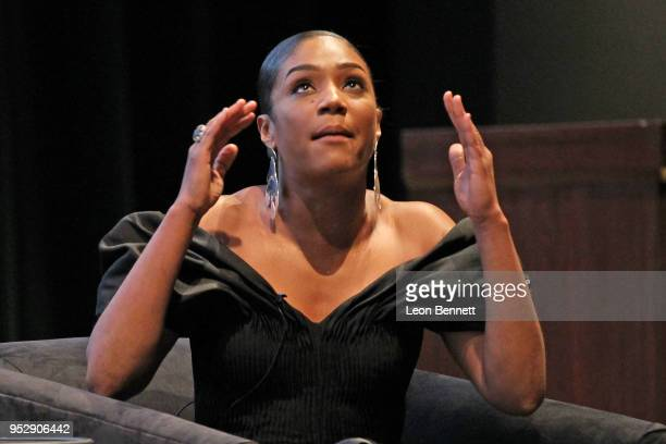 Actress Tiffany Haddish during panel discussion at the TBS' FYC Event For The Last OG And Search Party at Steven J Ross Theatre on the Warner Bros...