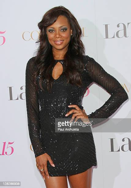 Actress Tiffany Hines attends the Latina Magazine's 15th anniversary celebration at The Globe Theatre on October 5, 2011 in Universal City,...