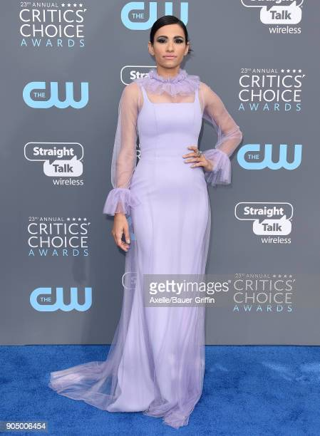 Actress Tiffany Smith attends the 23rd Annual Critics' Choice Awards at Barker Hangar on January 11 2018 in Santa Monica California