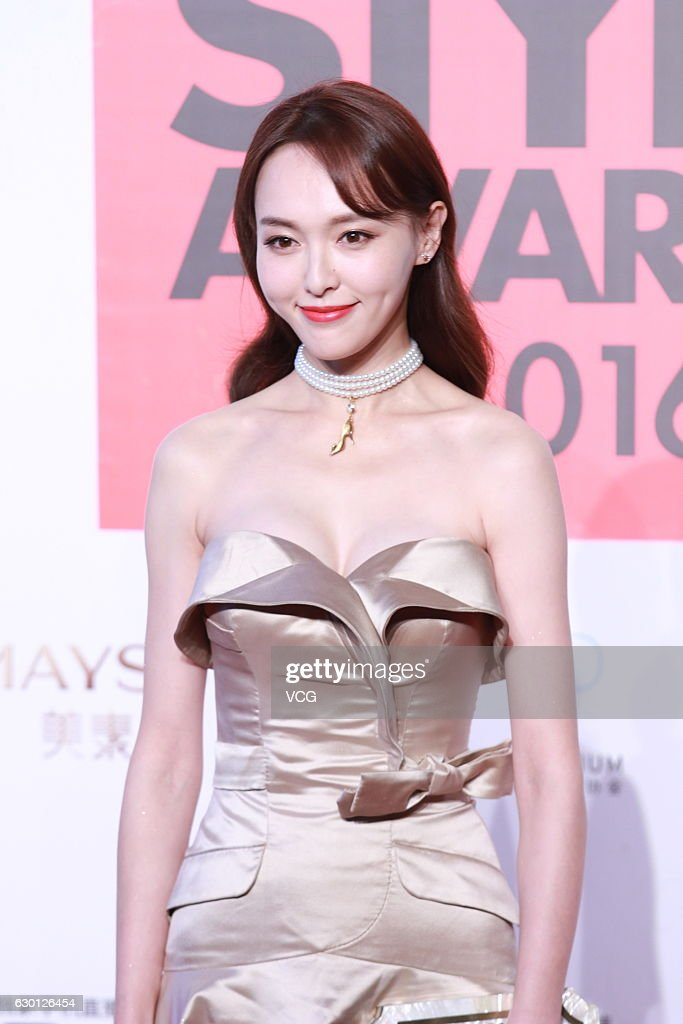 Actress Tiffany Tang arrives at the red carpet of 2016 ELLE Style Awards ceremony on December 16, 2016 in Shanghai, China.