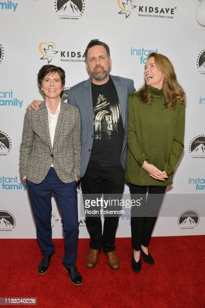Actress Tig Notaro writer and director Sean Anders and actress Julie Hagerty attend Paramount Pictures Hosts Kidsave's Weekend Miracles Event to...
